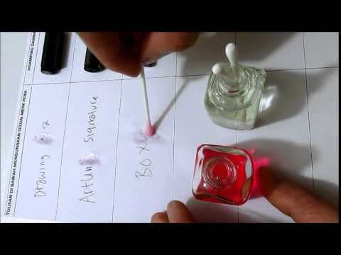 HOW REMOVE ERASE PERMANENT SIGNATURE INK FROM PAPERS BY~MAGIC INK REMOVER FLASH