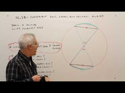 10.3B--Congruent Arcs, Chords, and Central Angles