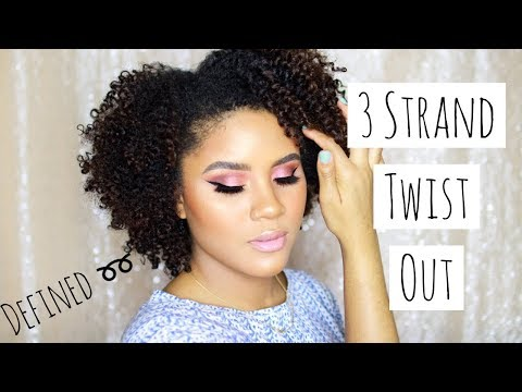 DEFINED 3 STRAND TWIST OUT ON NATURAL HAIR | AS I AM LONG & LUXE | CURLSFOTHEGIRLS