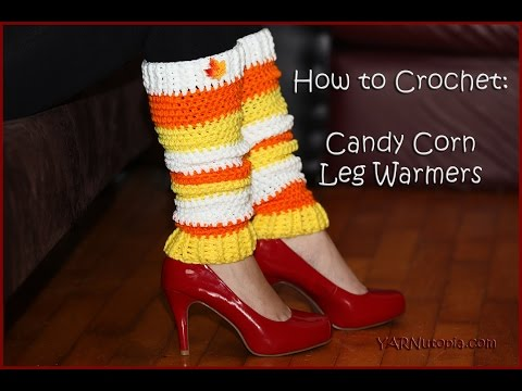 How to Crochet Candy Corn Leg Warmers
