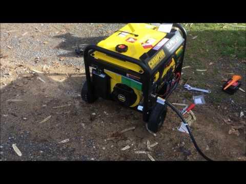 Dual Fuel Champion Generator- First Start / Transfer Switch Test Run