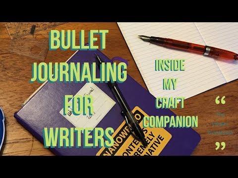 Writer's Bullet Journal Walkthrough August 2017