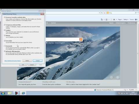 Easy Internet Explorer 8 Clear Browser Cache