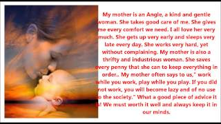 Short Essay on mother, Composition on Mother, Creative writing about Mothe