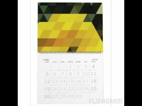 A Year of Geometric Patterns | Personalized calendar from Zazzle
