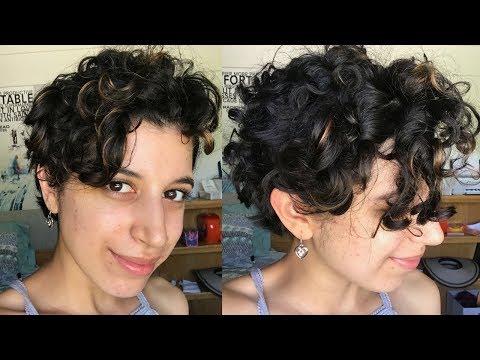 Short Curly Hair Routine   Long Pixie Cut