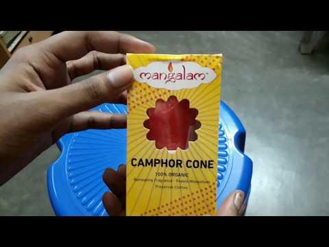 Unobxing Mangalam Camphor Cone / Kapoor Cone - Room Freshener, Mosquito Repellent (Pack of 3)