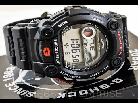 Casio GSHOCK G7900-1 REVIEW   How To Set Time   LIGHT DISPLAY