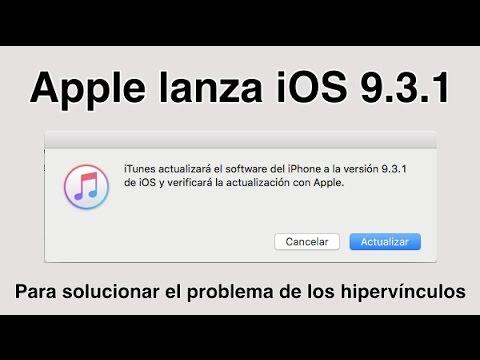 Apple lanza iOS 9.3.1 para solucionar el problema con los enlaces
