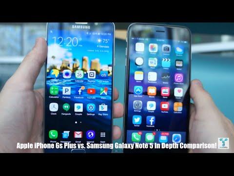 iPhone 6s Plus vs Samsung Galaxy Note 5 In Depth Comparison