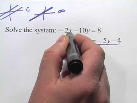 Determining the Number of Solutions for Systems of Equations