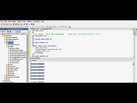 How to import sql database script