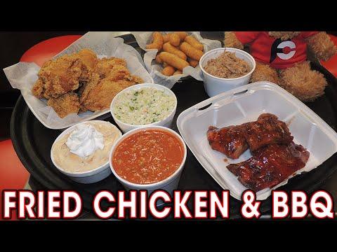 FRIED CHICKEN & CAROLINA BBQ CHALLENGE!!