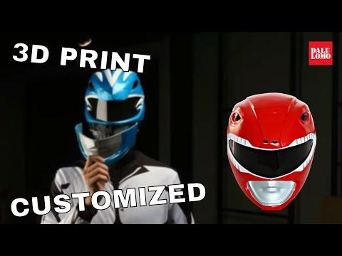 DIY Power Rangers Helmet - 3D Printed Costume How to