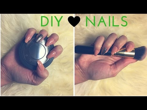 DIY Coffin / Ballerina Nails NO ACRYLIC | jiannajay