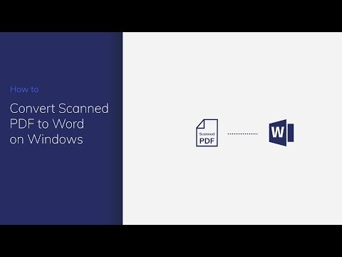 Convert Scanned PDF to Word on Windows with PDFelement