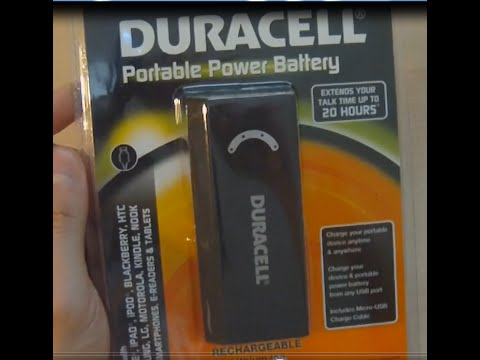 How To Keep Your Cell Phone Charged All Day -- Duracell Portable Power Battery Unboxing & Test