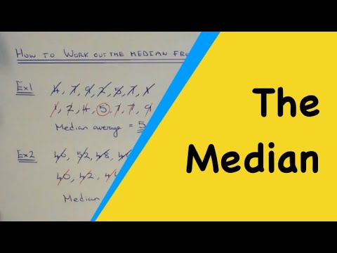 How To Work Out The Median Average From A List Of Data