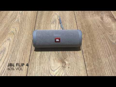 Jbl Flip 4   Soundcheck.  10 - 100% vol