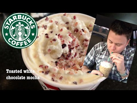 STARBUCKS TOASTED HOT WHITE CHOCOLATE MOCHA REVIEW AND ICED BUY ONE GET ONE FREE