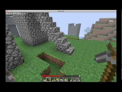 Minecraft Tutorial- How to Quickly Build a Staircase