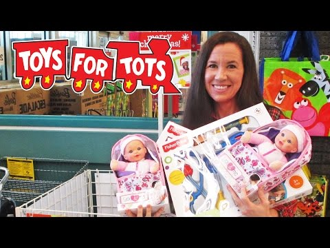 TOY SHOPPING - Toys For Tots at Toys R Us