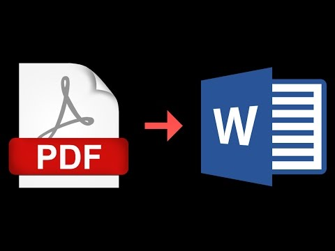 How to convert a pdf to word document online