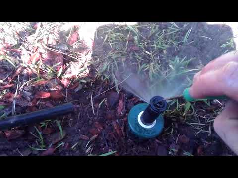 How to adjust an orbit sprinkler head nozzle part two