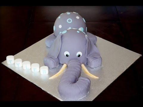 Cake decorating tutorial | How to make a 3D elephant cake | Sugarella Sweets