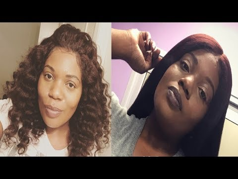 Straightening The Best Kinky Blowout Full Lace Wig | HerGivenHair