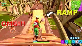 Download Going of a *RAMP* in the SHOPPING CART from max height in Fortnite battle Royale Video
