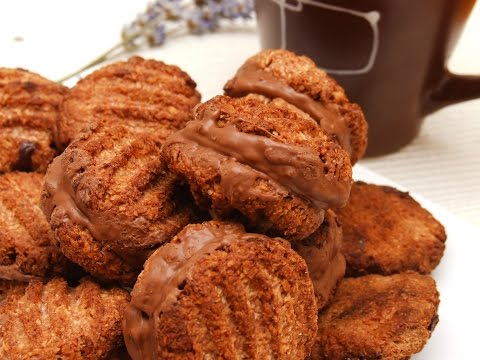 How to make the best coconut, chocolate homemade cookies. SA Romany Creams recipe.