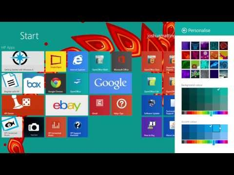 how to change your windows of start/menu background/wallaper in 8.1 only\!!!!
