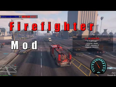 GTA V - Firefighter [Mod Showcase]