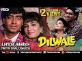 Download Dilwale - Lyrical Songs With Dialogues | Ajay Devgan, Raveena Tandon | 90's Bollywood Romantic Songs MP3,3GP,MP4