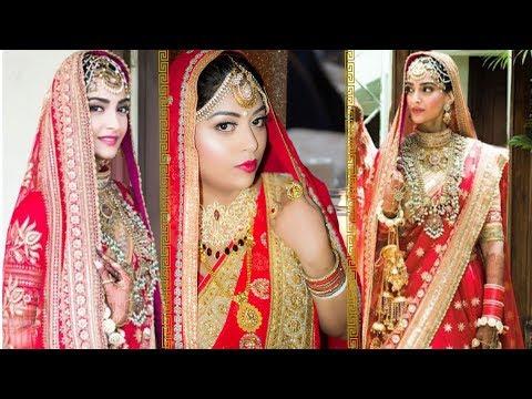 Sonam Kapoor Wedding Makeup Inspired Tutorial | Easy Bridal Makeup At Home | Indian Makeup