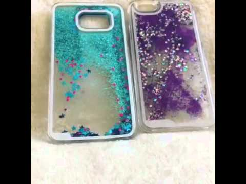 Moving liquid Glitter Galaxy S6 iPhone 6 Phone Case at LUXURIOUS BLING
