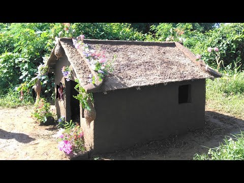 Hut COW DUNG Technology in Cambodia | Traditional Hut Make From Cow Dung