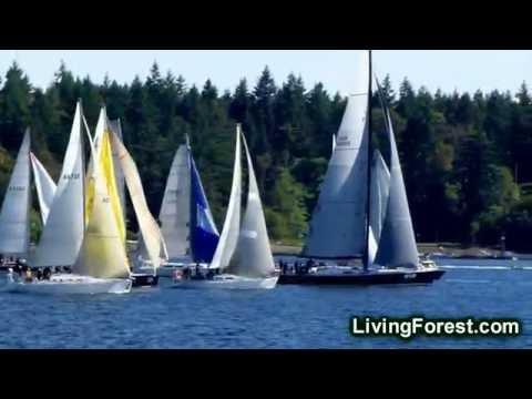 Start of VanIsle 360 2011- Sailing Race Around Vancouver Island