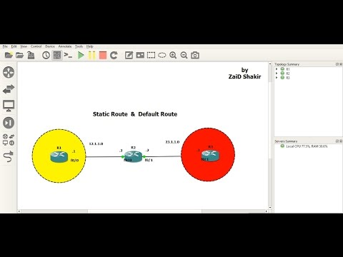 CCNA R&S Static route & Default Route