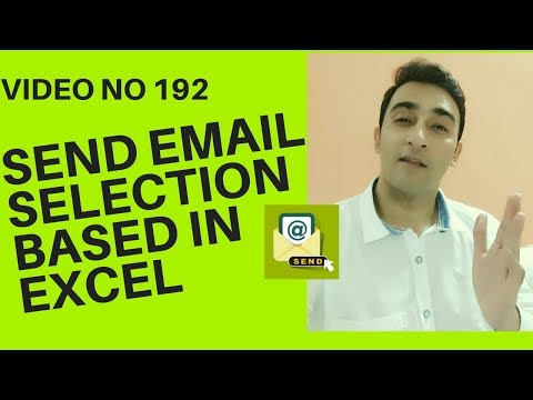 Learn Excel - Video 192 - VBA - How to Send Outlook Emails selection based excel cells