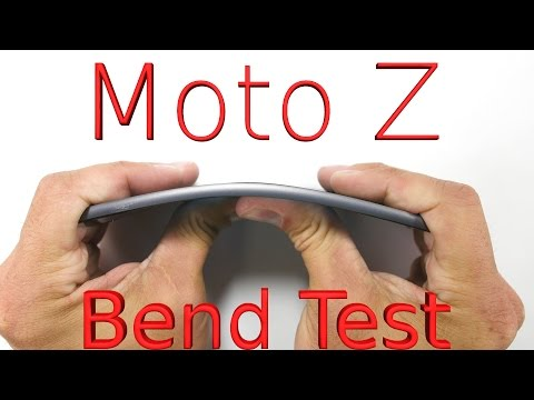 Worlds THINNEST Smartphone BEND TEST - Moto Z