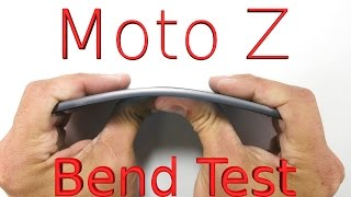 Worlds THINNEST Smartphone BEND TEST - Moto Z
