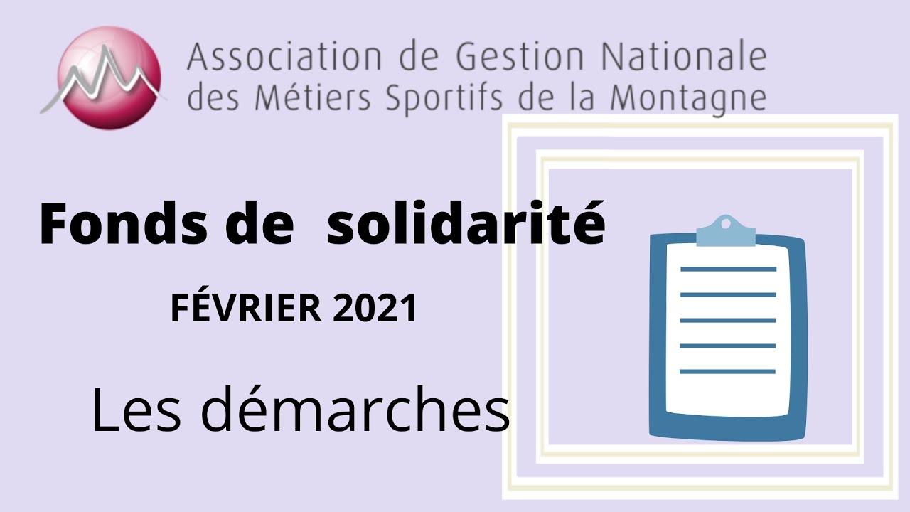 Demande Fonds de Solidarité - FEVRIER 2021