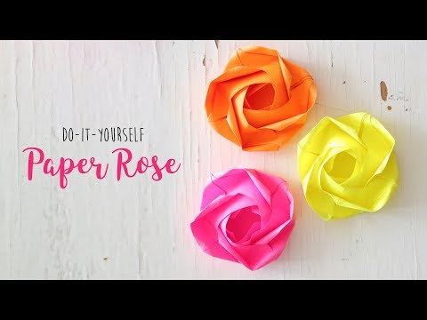 DIY Rose |  Paper Flowers | Origami Craft