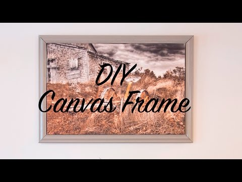 DIY Frame for Canvas Picture