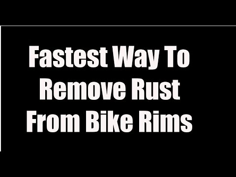 Fast Way To Remove Rust From Chrome Bike Rims