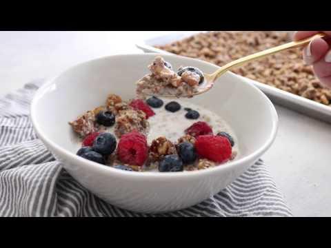 HOMEMADE GLUTEN FREE GRANOLA RECIPE (low carb + grain free)