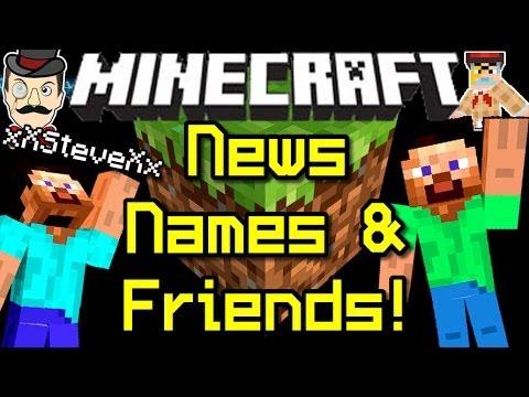 Minecraft News FRIEND LIST, Name Changes & Unique IDs!