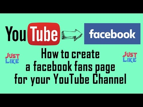 How to create facebook fans page for your YouTube Channel